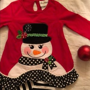 5ab0e373a7da Rare Editions Matching Sets - New Without tags Two-piece Snowman holiday  outfit